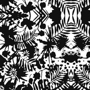 Jungle Damask black