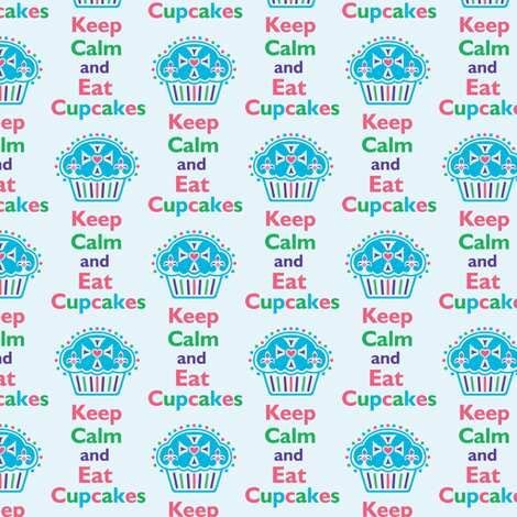 Keep Calm and Eat Cupcakes 6 fabric by andibird on Spoonflower - custom fabric