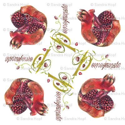 pomegranate passion-fabric