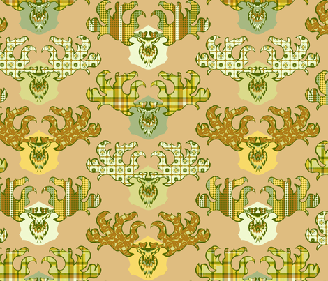 Irish_Elk fabric by spacecowgirl on Spoonflower - custom fabric