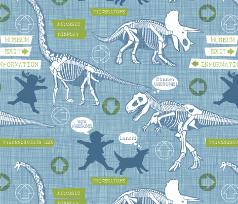 A day at the museum fabric by cjldesigns on Spoonflower - custom fabric