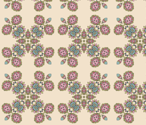 Henrietta in Cream fabric by captiveinflorida on Spoonflower - custom fabric
