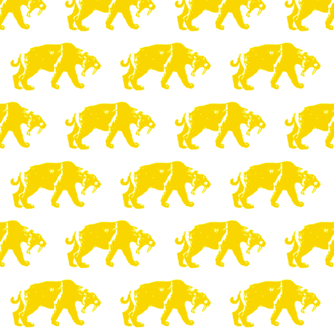 A Sabretooth Parade fabric by thatrossiart on Spoonflower - custom fabric