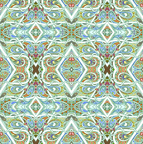 My Paisley Babushka fabric by edsel2084 on Spoonflower - custom fabric