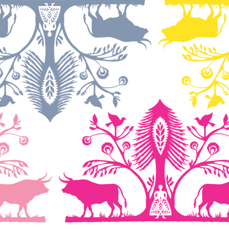 Paper_Aurochs fabric by natasha_k_ on Spoonflower - custom fabric