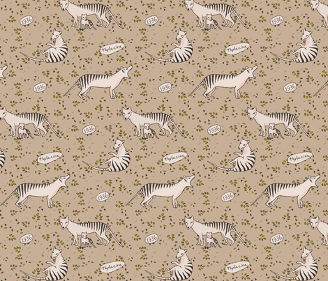 Thylacine so beautiful fabric by lucybaribeau on Spoonflower - custom fabric