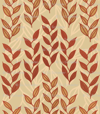 Layered Minoan grasses on beige