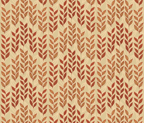 Layered Minoan grasses on beige fabric by su_g on Spoonflower - custom fabric