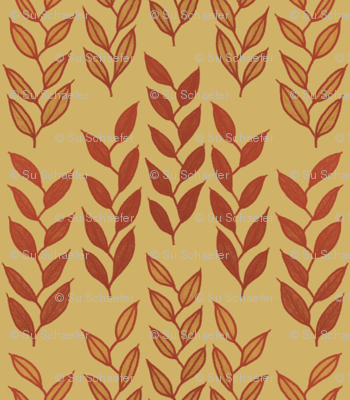 Minoan grasses on yellow ocher
