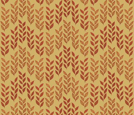 Minoan grasses on yellow ocher fabric by su_g on Spoonflower - custom fabric