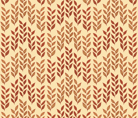 <NP>Minoan grasses on rich cream fabric by su_g on Spoonflower - custom fabric
