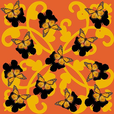Retro Butterflies fabric by kimi-d on Spoonflower - custom fabric