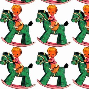 Baby Girl Rocking Horse