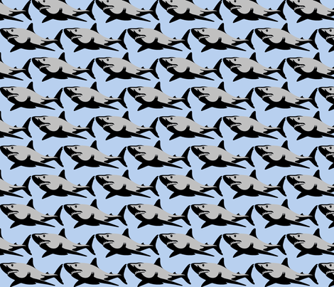 Sharky  fabric by crabbycathe on Spoonflower - custom fabric
