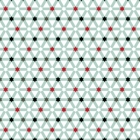 Little Stars Lattice fabric by ravenous on Spoonflower - custom fabric