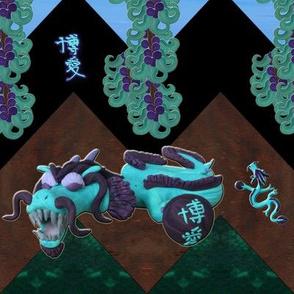 Chevron dragon quilt