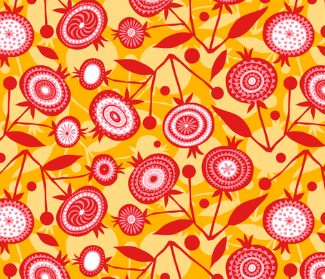 Pom Pom D'or fabric by spellstone on Spoonflower - custom fabric