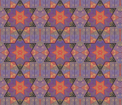 Polymer Tile Star fabric by koalalady on Spoonflower - custom fabric