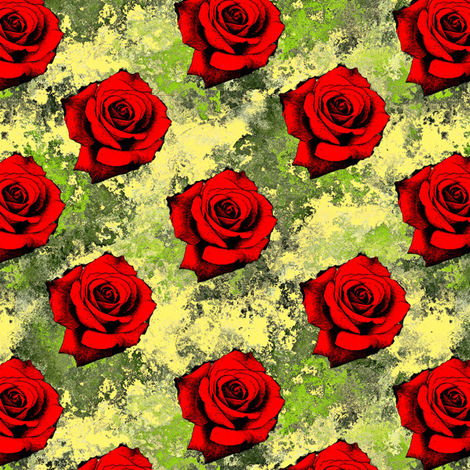 roses for tea fabric by elarnia on Spoonflower - custom fabric