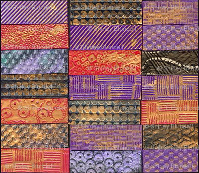 Polymer Clay Tiles- multi colored horizontal