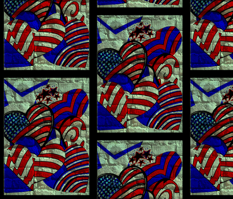 United We Stand- God Bless America fabric by zebralan on Spoonflower - custom fabric