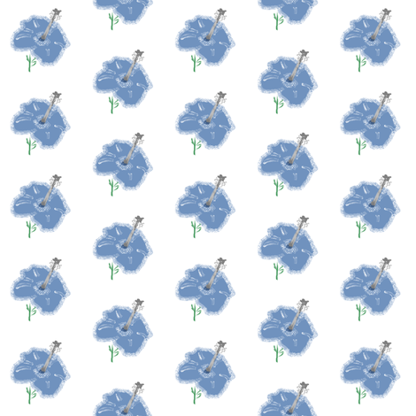 blue_hybiscus fabric by suemc on Spoonflower - custom fabric