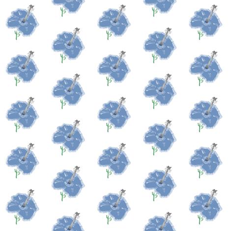 blue_hybiscus fabric by suemc on Spoonflower - custom fabric
