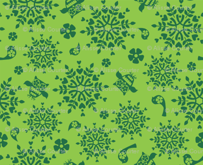 Holiday Folk Art Green