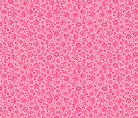 Holiday Folk Art Pink fabric by alissecourter on Spoonflower - custom fabric