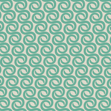 TUSK_TEAL fabric by glorydaze on Spoonflower - custom fabric