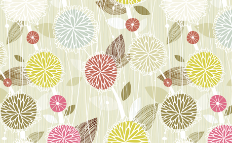 Pom Poms fabric by friztin on Spoonflower - custom fabric