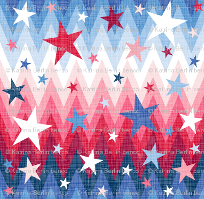 Maddox's ombre stars and stripes