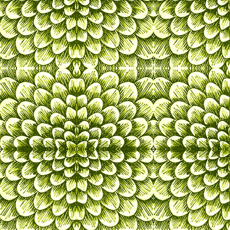Artichoke scales fabric by sewzinski on Spoonflower - custom fabric