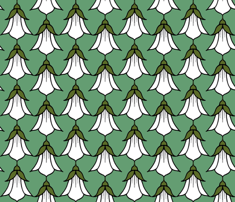 Campanula_white fabric by adranre on Spoonflower - custom fabric