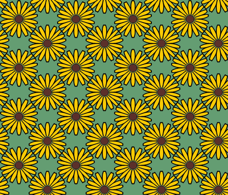 Daisy_yellow fabric by adranre on Spoonflower - custom fabric