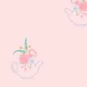 Teapot Posey Pink