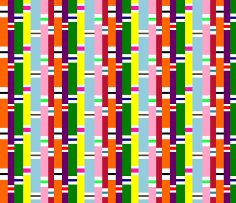 Preppy Stripes (Multi) fabric by stitching_dvm on Spoonflower - custom fabric