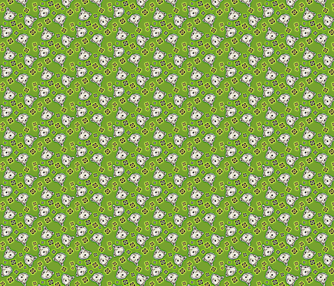 Mustachioed Hamster Green fabric by margaretdaniero on Spoonflower - custom fabric