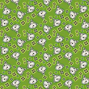 Mustachioed Hamster Green