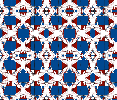 I see stars and stripes tiffany glasswindow effect fabric by vinkeli on Spoonflower - custom fabric
