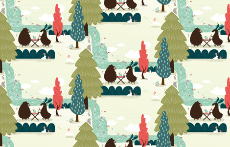 Picnic by frizt.in fabric by friztin on Spoonflower - custom fabric