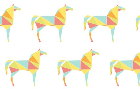 Origami Horses fabric by friztin on Spoonflower - custom fabric