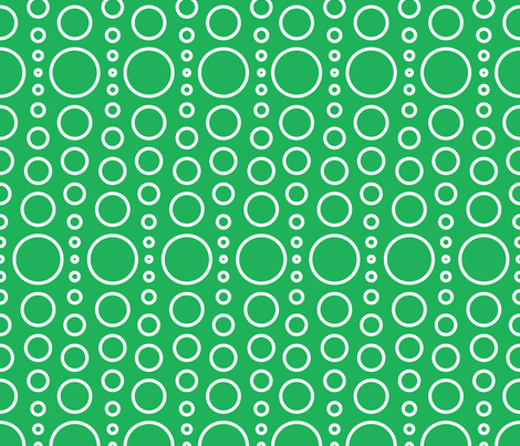 bubble green fabric by myracle on Spoonflower - custom fabric