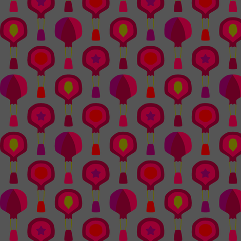 Hot Air Pomegranates fabric by modgeek on Spoonflower - custom fabric