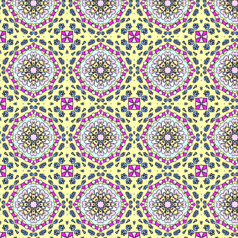 Henrietta in Yellow fabric by captiveinflorida on Spoonflower - custom fabric
