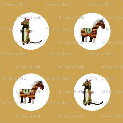 Mooglee Animals Circle on Tan