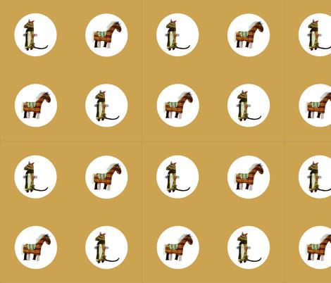 Mooglee Animals Circle on Tan fabric by smuk on Spoonflower - custom fabric
