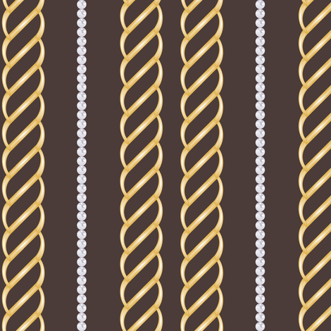 Chains&Pearls in Chocolate fabric by fridabarlow on Spoonflower - custom fabric