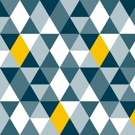 Geo Mod Navy Yellow fabric by smuk on Spoonflower - custom fabric