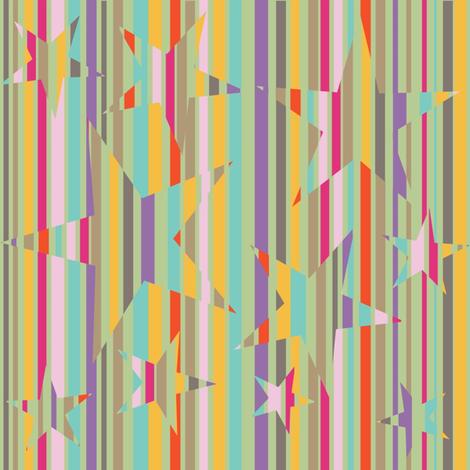 Big Stripey Stars fabric by dervishheart on Spoonflower - custom fabric